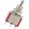 Switch - Carling, Mini Toggle, SPDT, 3 Position, Solder Lugs, Short Bat image 2