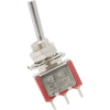 Switch - Carling, Mini Toggle, SPDT, 2 Position, Solder Lugs, Flattened image 1