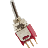Switch - Carling, Submini Toggle, SPDT, 2 Position, PC Pins image 1