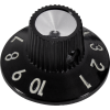 Knob - Witch Hat, Black 1-10, Skirted, Set Screw, Thick Numbers image 1
