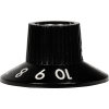 Knob - Witch Hat, Black 1-10, Skirted, Set Screw, Thin Numbers image 3