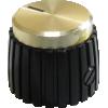 Knob - Black, Cap, Mini Marshall Style image 1