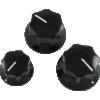 Knob - Fender®, Black J-Bass, Set Screw image 2