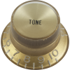 Knob - Top Hat, Gold with Gold Cap, Gibson Style image 1