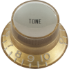 Knob - Top Hat, Gold with Silver Cap, Gibson Style image 1