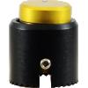 "Knob - Loknob, Large Series, 3/4"" Outer Diameter, Black/Gold image 2"