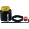 "Knob - Loknob, Large Series, 3/4"" Outer Diameter, Black/Gold image 1"