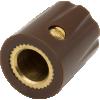Knob - Scalloped Edge, Indicator Line, Set Screw, Brass Insert image 2