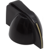 Knob - Small Chicken Head, Black, Set Screw image 1