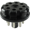 Plug - 8-Pin octal tube base, Black Plastic image 1