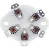 Socket - 5 Pin, Ceramic Plate, bottom mount image 3