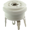 Socket - 7 Pin, Miniature, Standoff Ceramic PC Mount, Center Lug image 1