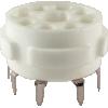 Socket - 8 Pin Octal, Ceramic PC Mount image 1