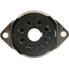 Socket - 8 Pin Octal, Saddle Plate, Black, Bottom Mount image 2