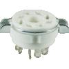 Socket - 8 Pin Octal, Ceramic, with Separate Retaining Ring image 1
