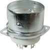 Socket - 9 Pin, Ceramic with Center Shield and Shield Base image 1