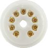 Socket - 9 Pin, Ceramic, PC Mount, Gold Pins image 2
