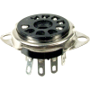 "Socket - 9 Pin, Plastic, 3/4"" mounting hole, top mount image 1"
