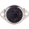 "Socket - 9 Pin, Plastic, 3/4"" mounting hole, top mount image 2"