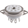 Socket - 9 Pin, Ceramic with Center Shield, Top Mount image 1