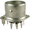 Socket - Belton, 9 Pin, Crimped with Shield Base, PC mount image 1