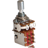 Potentiometer - Alpha, 1M, Audio, DPDT, 7mm Bushing, Solder Lug image 1