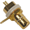 RCA Jack - Chassis Mount, Rear Mount, Gold Plated image 3