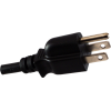 Cord - Power, 18 AWG, 3 Conductor, Black, No IEC, 8 Feet image 2