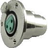 Jack - Switchcraft, premium XLR, 3-Pin, circular panel-mount image 1