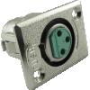 XLR Jack - Switchcraft, premium, rectangular panel-mount image 1
