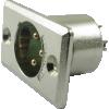 Jack - Switchcraft, premium XLR, 3-Pin, rectangular panel-mount image 2