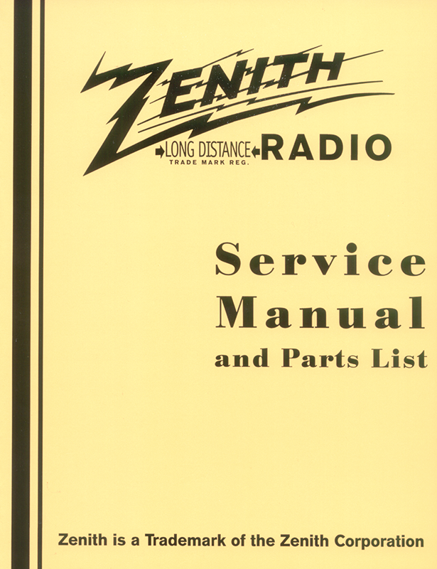 zenith radio service manual and parts list antique electronic supply rh tubesandmore com Zenith Wave Magnet Radio Zenith Radio Corporation Repairs