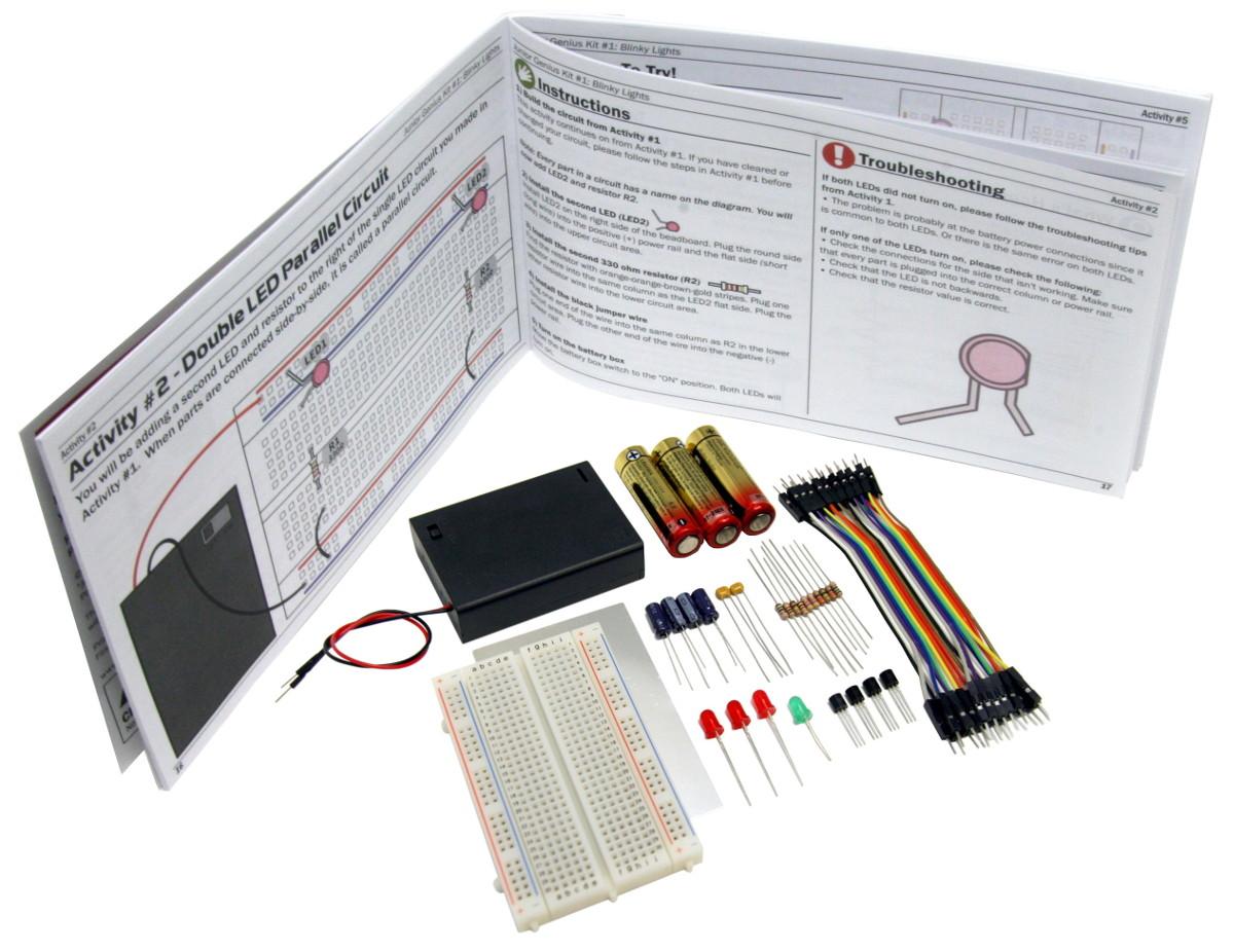 Kit Busboard Junior Genius Blinky Lights Antique Electronic Circuit Jr Image 3