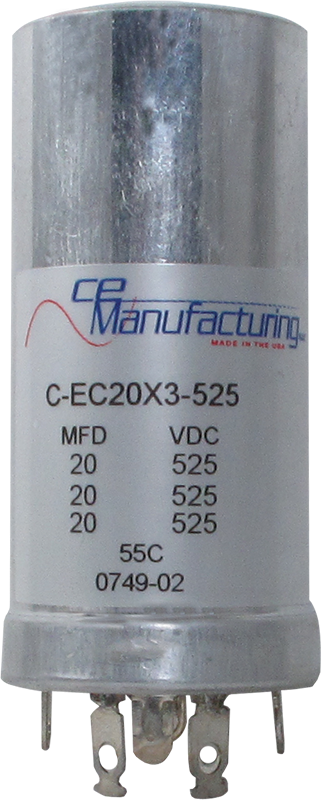 Capacitor Ce Mfg 525v 20 20 20 181 F Antique Electronic