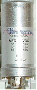 Capacitor Ce Mfg 525v 30 30 30uf Antique Electronic