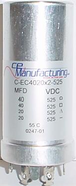 Capacitor Ce Mfg 525v 40 40 20 20uf Antique