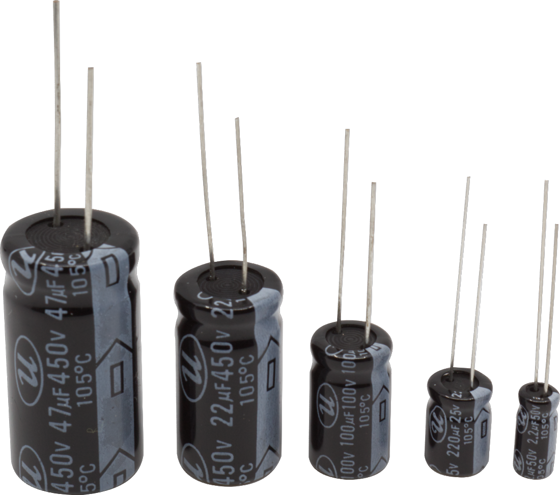50V Axial Lead Electrolytic Capacitor Capacitance: 22 uF Package of 4