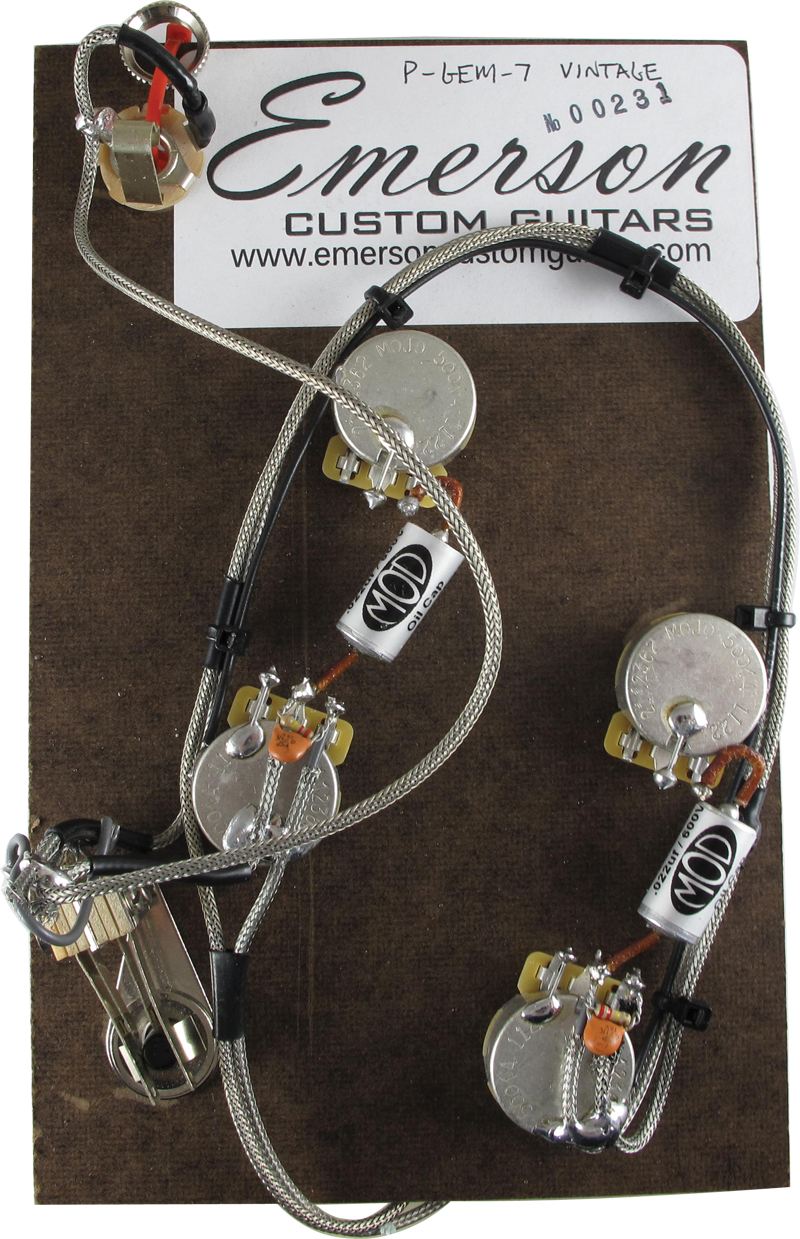 Prewired Assembly Emerson Custom Es 335 Vintage Series Antique Wiring Harness Electronic Supply