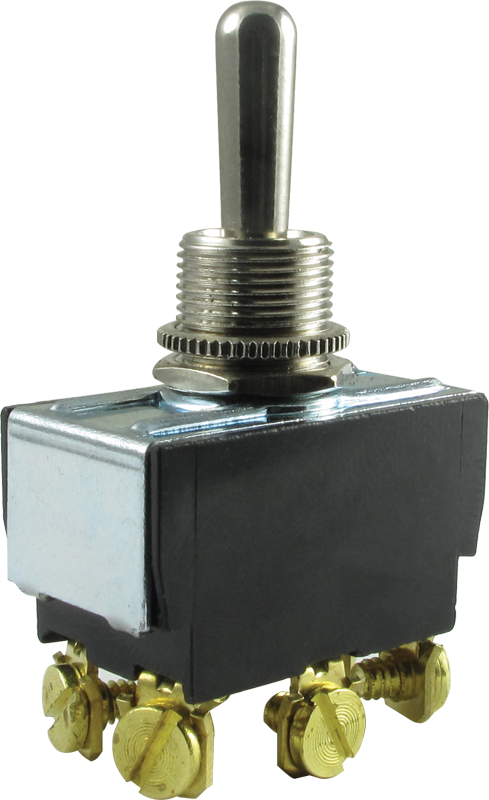 Switch - Carling, Toggle, DPDT, 3 Position, On-Off-On, Terminals ...