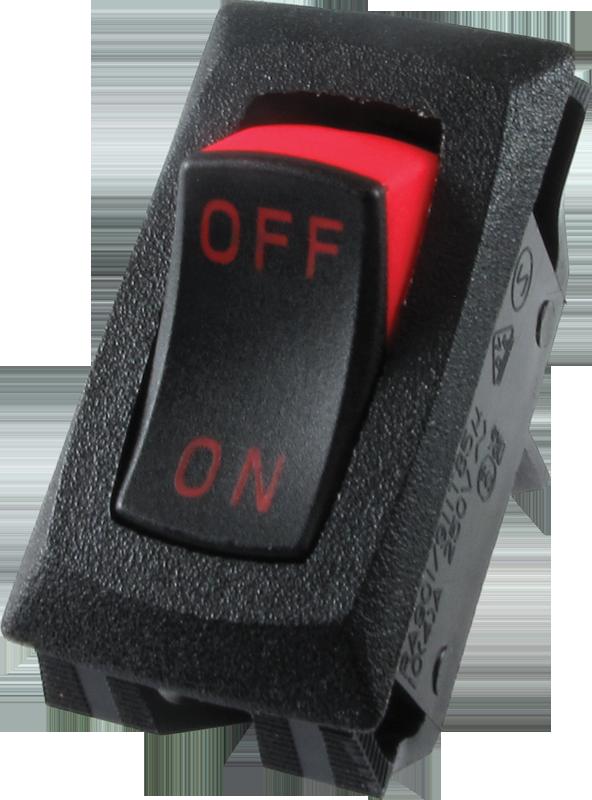 Switch Carling Mini Rocker Spst 16a 125vac On Off