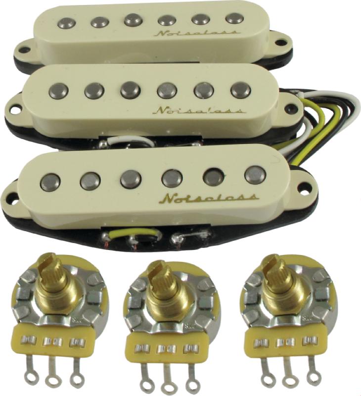 Fender Noiseless Pickups >> Pickup Fender Vintage Noiseless For Strat Set Of 3 Antique