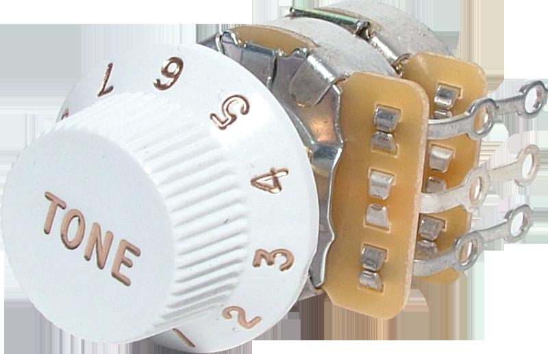 Potentiometer - Fender®, 250K, Tone Control, for Most Tele/Strat ...
