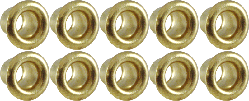 Pack of 100 EYELET 0.093 BRASS TIN PLATED