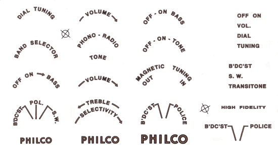 Decal - Philco | Antique Electronic Supply