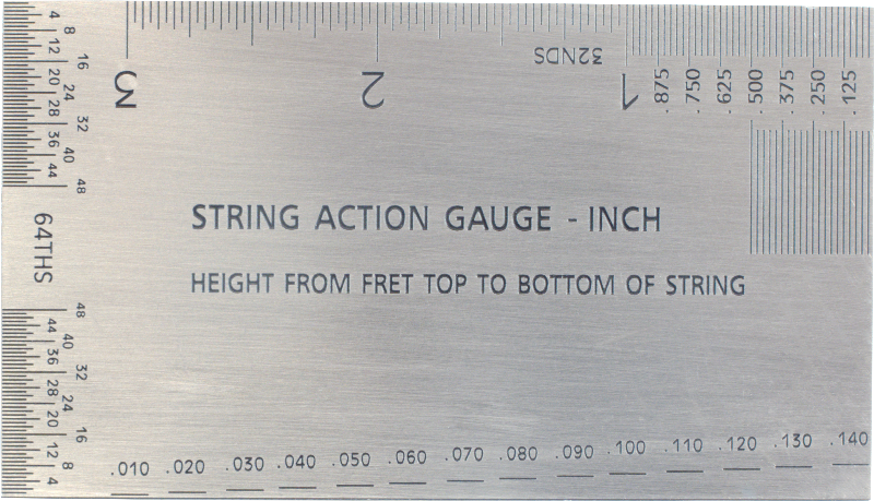 photo about String Action Gauge Printable identify String Stage Gauge - Dimensions Resource