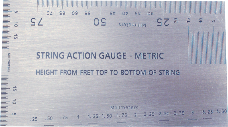image regarding String Action Gauge Printable named String Phase Gauge - Dimensions Software Antique Digital