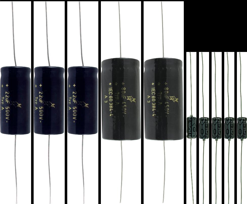Cap Set For Fender Bassman Aa864 Black Face Antique Electronic Strat Wiring 2 Tone Caps